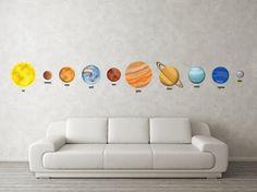 solar system nursery decals