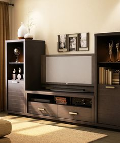 Look at this Chocolate Skyline TV Stand on #zulily today!
