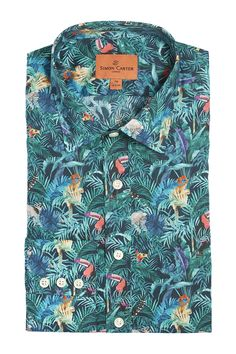Simon Carter Made With Liberty Fabric Tou-Can Hide Product Code: SCSH00451 £145.00 Simon Carter, Island Shirts, Lemurs, Fish Print, Liberty Fabric, Fishing Shirts, Bird Prints, Printed Shirts, Your Style