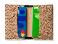 Smart way to store your cards Business Card Holders, Business Cards, Your Cards, Cork, Leather Wallet, Wallets, Minimalist, Unique Jewelry, Handmade Gifts