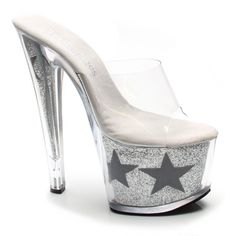 Stripper Heels Store - TONY SHOES - 7 1/2 Inch Heel Slip On Glitter Star, $74.99 (http://www.stripperheelsstore.com/tony-shoes-7-5-inch-heel-slip-on-glitter-star/)