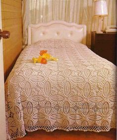Vintage bedspread ♥LCB-MRS♥ with diagram.