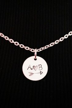 Couple Necklace / Love Necklace / Boyfriend Necklace / Couples Initial...pinned by ♥ wootandhammy.com, thoughtful jewelry.
