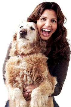 Golden Retrievers with Celebrity (Moms and Dads) - Charisma Carpenter from Buffy the Vampire Slayer