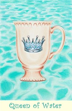 Queen of Water from the Coffee Tarot