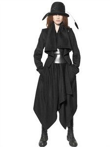 Ann Demeulemeester - Draped Viscose/wool Coat   FashionJug.com