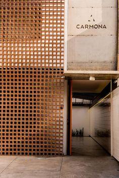 Design Exterior, Brick Design, Facade Design, Wall Design, Interior And Exterior, House Design, Concrete Design, Brick Architecture, Residential Architecture