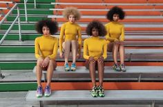 Puma Creative Director Solange Knowles collaborated with label William Okpo to deliver a sneaker capsule collection and lookbook 'Girls of Blaze'.
