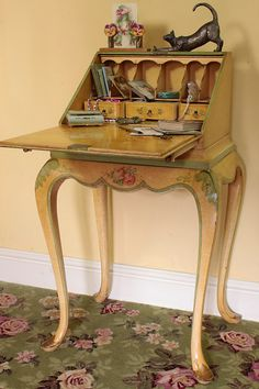 Vintage Home - Exquisite 1940s Ladies Writing Bureau.