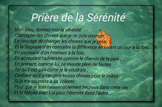 Prięre de la Sérénité