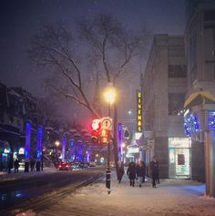 #winter walks! #montreal #canada #city #snow #quebec #theater #fit #light #lights #travel #vacation