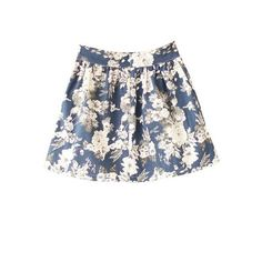 Navy High Waist Floral Pleated Skirt ($21) ❤ liked on Polyvore featuring skirts, bottoms, sheinside, clothes - skirts, flower print skirt, floral printed skirt, knee length pleated skirt, high-waisted skirts and navy blue high waisted skirt
