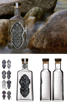 White Laydie Gin's beautiful bottle and label design