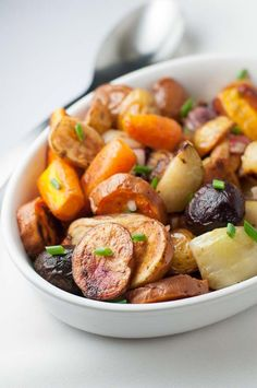Use this recipe to learn the three simple steps to making crispy richly-flavoured Cider-Roasted Root Vegetables. A perfect fall or winter side dish.