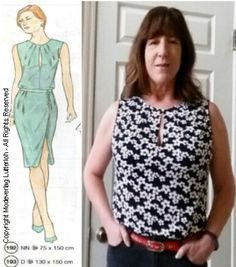 Supplement 303 - Model #192 - Winter 2017          Sleeveless Knit Top w/ Keyhole Neckline     I'll be taking a tropical vacation next mon...