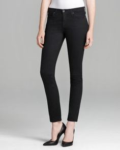 AG Adriano Goldschmied Jeans - The Prima Skinny in Super Black  Bloomingdale's