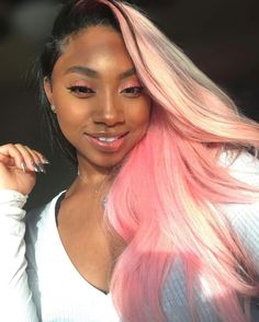 Pinterest @teethegeneral Weave Hairstyles, Pretty Hairstyles, Straight Hairstyles, Creative Hair Color, Cool Hair Color, Extreme Hair Colors, Afro, Natural Hair Styles, Long Hair Styles