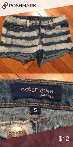 Beach inspired shorts Cute shorts that go with so much! They come from a smoke free home too. Please ask if you have any questions and all offers will be considered! Ocean Drive Shorts Jean Shorts