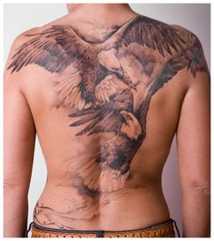 Eagle Tattoo Designs On The Back Body