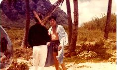 Elvis after filming a scene on the set of his movie Paradise Hawaiian style in august 1965