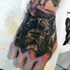 50 Cute Dog Tattoo Ideas For Men Who Loves Dogs – Gravetics – Ecstasycoffee – Tattooo Dog Tattoos, Animal Tattoos, Hand Tattoos, French Bulldog Tattoo, French Tattoo, Photomontage, Bulldogge Tattoo, Tiny Elephant Tattoo, Unique Tattoos