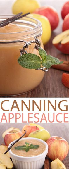 canning-applesauce. How to make homemade applesauce is an easy skill to learn. Can and preserve applesauce with apples picked at upick farm or homegrown apples. Easy applesauce canning recipe.