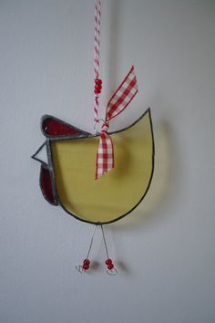 Funky stained glass suncatcher chicken with by JaniesCornishCrafts, £5.00