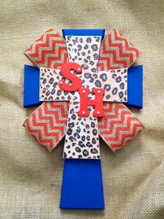 SHSU Leopard & Chevron Cross by RanchRoadCreations on Etsy, $38.00