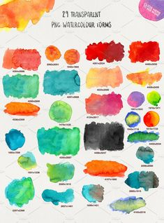 WATERCOLOR TEXSTURES VOL.1 by Daria Bilberry on @creativemarket