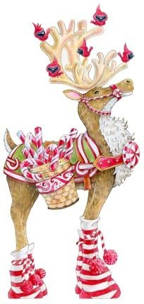 Decked-out Candycane Reindeer -- by Ronnie Rooney