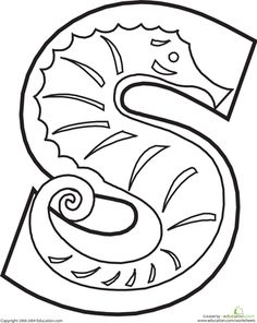 Worksheets: Letter S Coloring Page