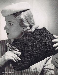 Crochet Clutch Vintage Crochet Pattern