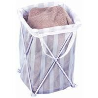 Bajer Design 1170 Single Compartment Folding Clothes Hamper Tote by Bajer Design. $12.57. 1 EACH. Collapses for easy storage. No assembly required. Durable coated steel frame. Lightweight and portable. Removable laundry bag. Holds 3 loads of laundry. Fits standard 24'' x 36'' laundry bags. Overall size: 26 1/2'' H. x 13 1/2'' W. x 13 1/2'' D. White.