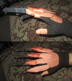 D.I,Y Halloween Freddy Krueger Glove This is the one i made