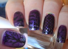 MoYou London Gothic Collection Plate 04 Halloween Nail Art