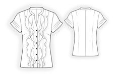 4196 PDF Sewing Pattern for Blouse, Personalized for Custom Size, Women Clothing. $2,49, via Etsy.