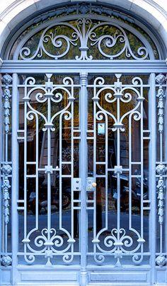 Wrought Iron Security Doors, Wrought Iron Doors, Steel Gate Design, Iron Gate Design, Door Design Images, House Main Gates Design, Iron Front Door, Window Grill Design, Metal Gates