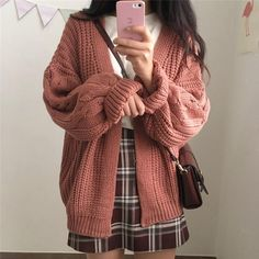 Warm Knit Sweater Cardigan – knitting sweaters for women Mode Outfits, Fall Outfits, Fashion Outfits, Fashion Ideas, Fashion Styles, Ladies Outfits, Fashion Hacks, Fashion Images, Fashion Quotes