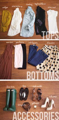 Wardrobe basics http://www.thedaybookblog.com/2012/04/my-wardrobe-basics.html