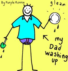 Dad washing up by Purple Ronnie