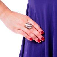 Anel prata 950 com zircônias • Osny Storel