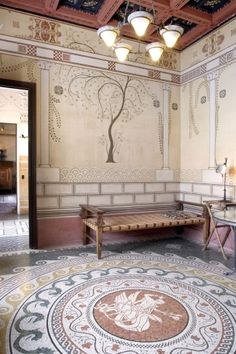 """Greek Villa Kerylos is one of the most extraordinary monuments on the Riviera. Built between 1902 and 1908 in the period the French call the """"Belle Epoque"""", it is a unique reconstruction of an ancient Greek home."""