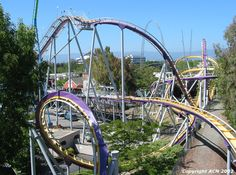 Vortex at Great America in Santa Clara, California!!!!love this rides!!!always let go of the bar when it's upside down!!!!!(: