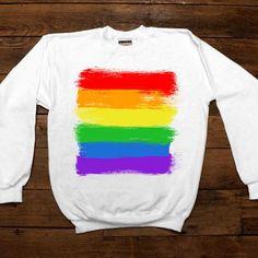 LGBTQIA+ Flag -- Women's Sweatshirt/Long-Sleeve – Feminist Apparel