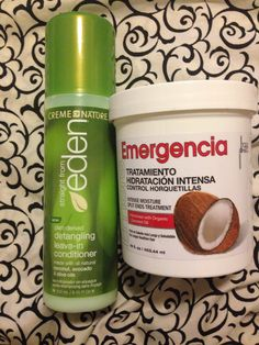 These are the products I use after washing my hair. The emergencia conditioner is a deep conditioner($7.99). I bought it at my local beauty supply store in NYC. The creme of nature straight from Eden  is great as well ($7.99). I use these two on my natural 4B hair.