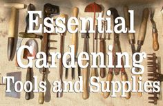 Essential Gardening Tools and Supplies - I have almost all of these already. Lets get going!