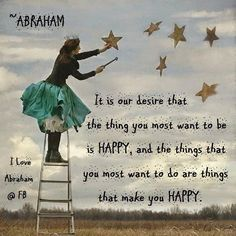 Abraham comes along, and we say that you can be or do or have anything