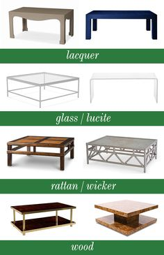 Best coffee tables, Good Bones...