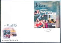 Togo 2013 Edward Hooper Pablo Picasso Lighthouse Art Souvenir Sheet FDC | eBay
