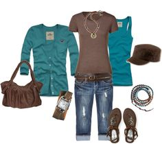 """""""Brown+Blue= Good Combo"""" by sapple324 on Polyvore"""